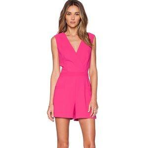 Trina Turk Zoria Romper in Vivid Pink
